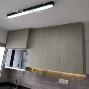 Elemental Black Rectangle LED Pendant Light Singapore - Aspire Lights