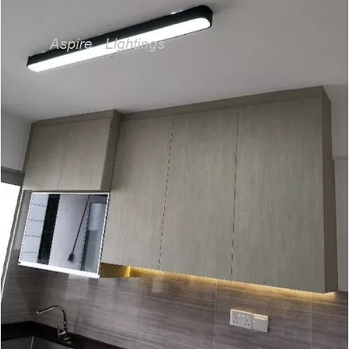 Elemental Black Rectangle LED Pendant Light Singapore - Aspire Lights