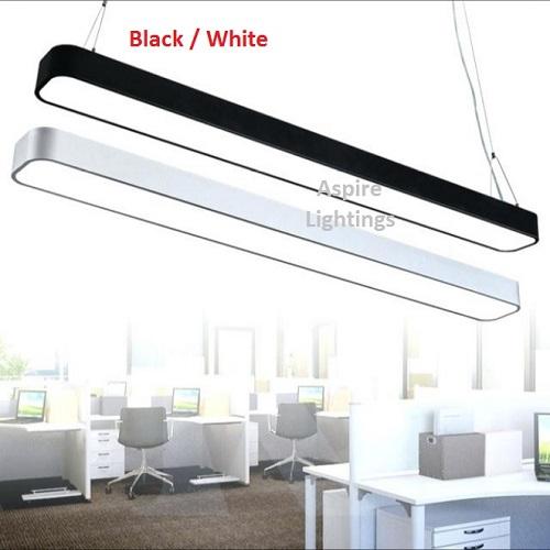 Elemental Black Rectangle Pendant LED Light Singapore - Aspire Lights