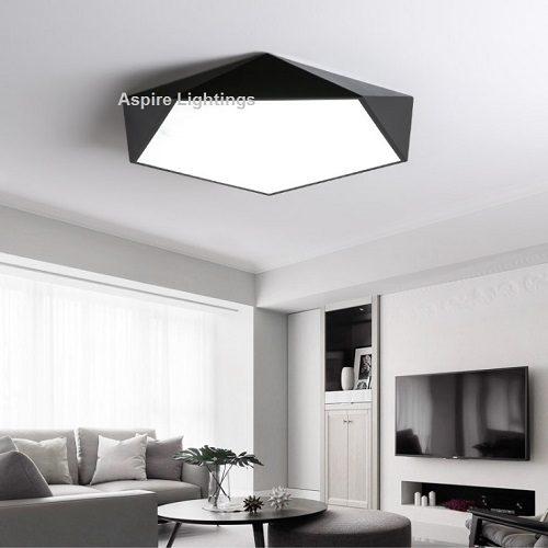 Black Pentagon LED Ceiling Light Singapore- Aspire Lights