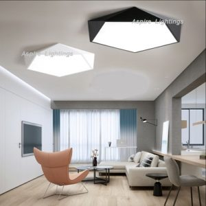 Black Pentagon Ceiling LED Light Singapore- Aspire Lights