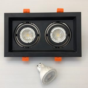 Twin GU10 LED Tracklight Singapore - Aspire Lights