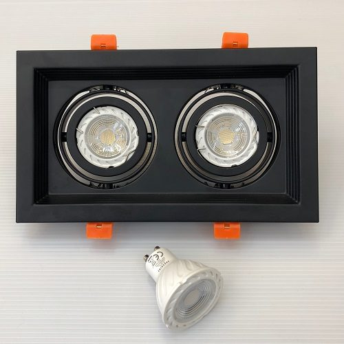 Twin GU10 LED Tracklight Singapore - Aspire Lights