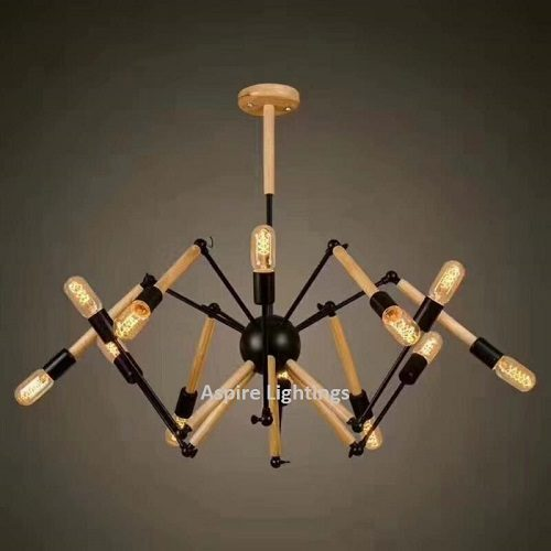 Spyder Chandelier 8H LED Light Singapore - Aspire Lights