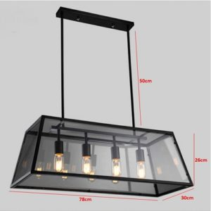 Trapezium Glass Pendant LED Light Singapore - Aspire Lights