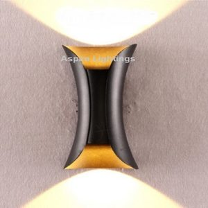 LED Wall Light Fleur Gold Black Singapore - Aspire Lights