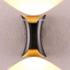 LED Wall Light Fleur Gold Black Singapore - Aspire Lights