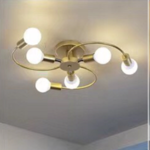 Gold Spiral Pendant LED Light Singapore - Aspire Lights