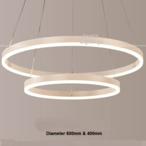 Twin Orbicular Pendant LED Light Singapore- Aspire Lights