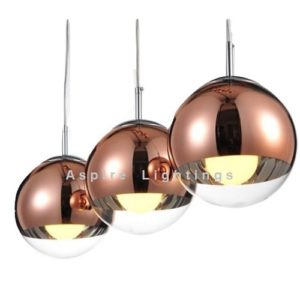 LED Rose Glass Ball Pendant Light Singapore - Aspire Lights