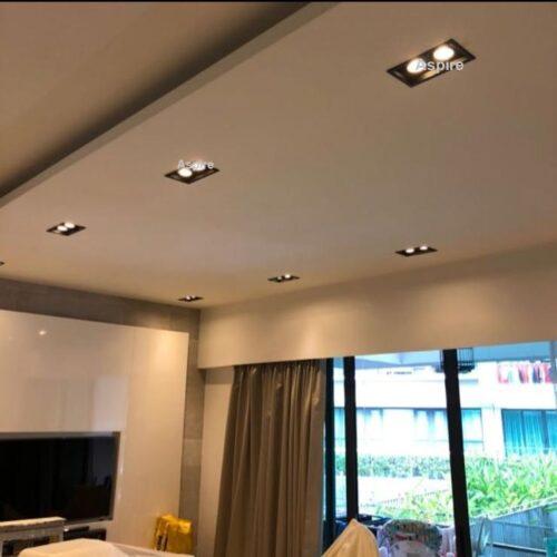 Fitting Twin Black Display Downlight Singapore - Aspire Lights