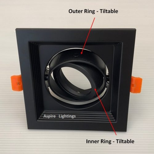 Fitting Single Black LED Downlight Singapore - Aspire Lights