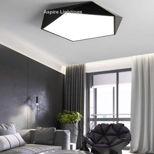 Black Pentagon Display Ceiling LED Light Singapore- Aspire Lights
