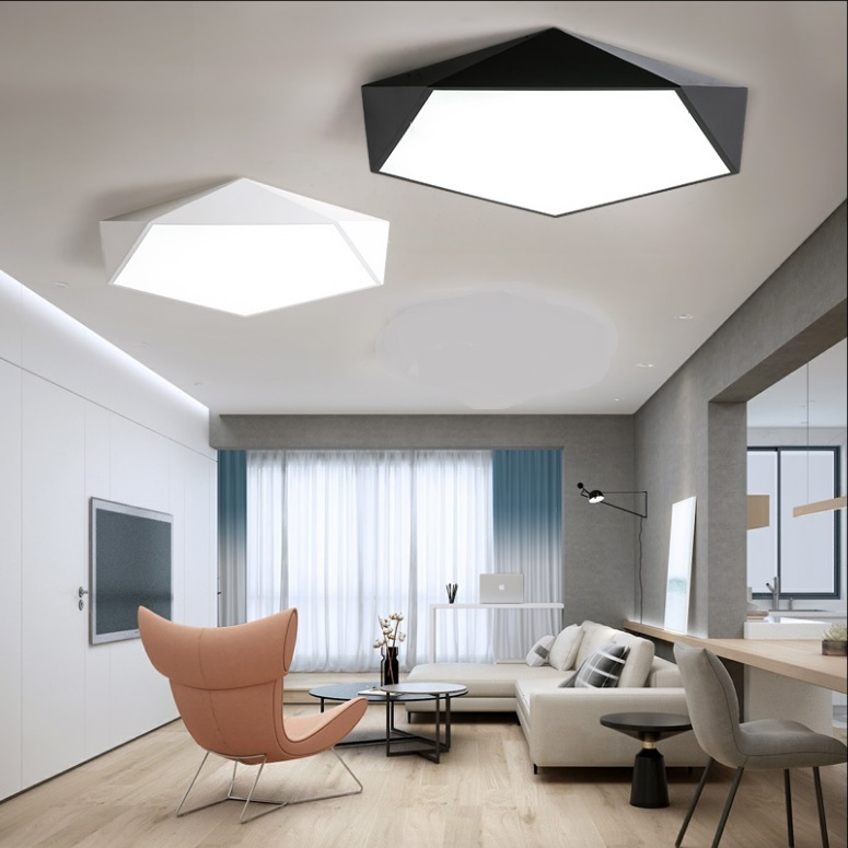Pentagon Ceiling LED Light Display Singapore- Aspire Lights