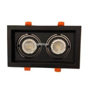 Fitting Twin Black LED Downlight Singapore - Aspire Lights