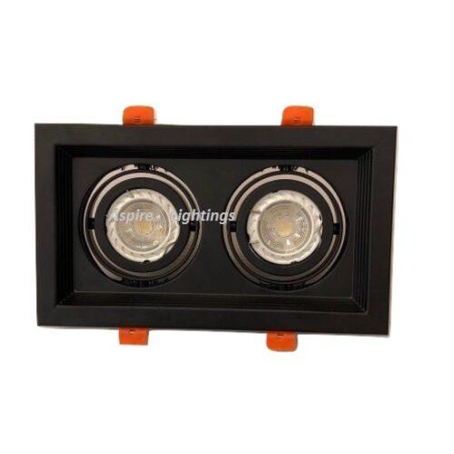 Fitting Twin Black LED Downlight Singapore - Aspire Lights