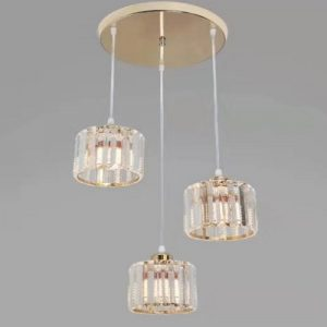 Gold Round Quarts LED Pendant Light Singapore - Aspire Lights